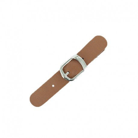 Leather Strap with Buckle Judy - Terracotta