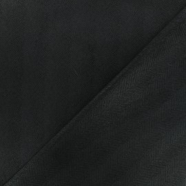 Tissu Néoprène Scuba Chevron - noir x 10cm