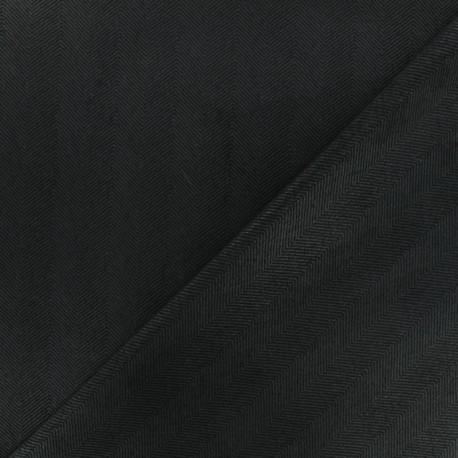 Neoprene scuba fabric - -black Herringbone x 10cm