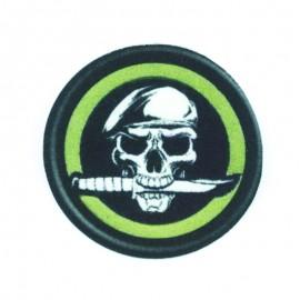 Thermocollant Tête de Mort Pirate - Vert
