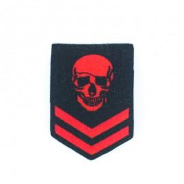 Chevron Warrior Pirate iron-on - Red