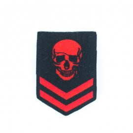 Thermocollant Guerrier Pirate Chevron - Rouge