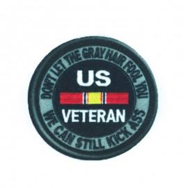 US Veterans Iron-on - Black
