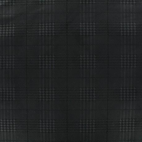 Tissu Néoprène Scuba Prince de Galles - noir x 10cm