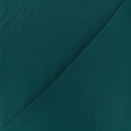 Tissu viscose sergé - émeraude x 10 cm