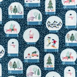 Tissu Coton Dear Stella Boule de neige - Bleu x 10cm