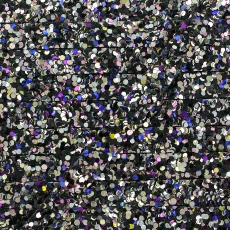 7 mm Glitter Iron-on Trim - Shadow x 50cm