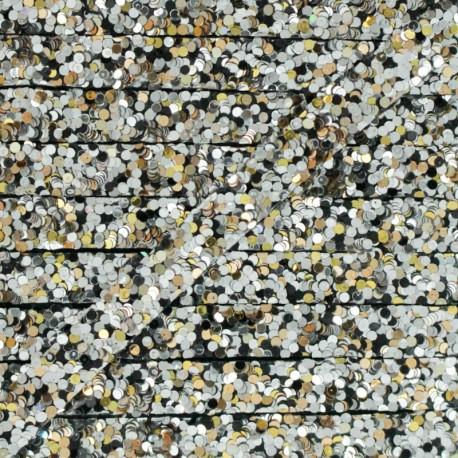 Ruban Galon Thermocollant Glitter 7 mm - Argent x 50cm