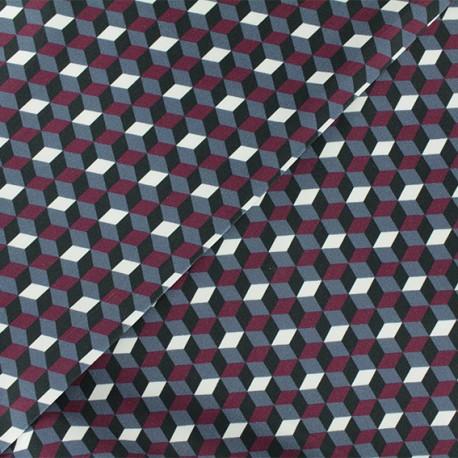 Tissu Gabardine Riverside - Bordeaux x 10cm