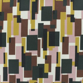 Gabardine fabric - Burgundy Montebello x 10cm