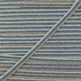 Ruban Tressé Lurex Elemento 7 mm - Aqua x 1m