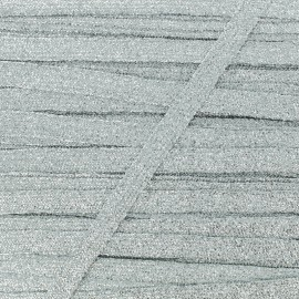 Ruban Lurex Réflexion 8 mm - Argent x 1m