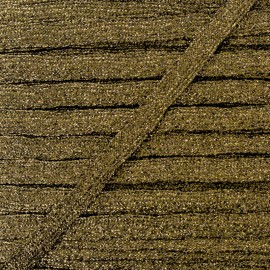 Ruban Lurex Réflexion 8 mm - Bronze x 1m