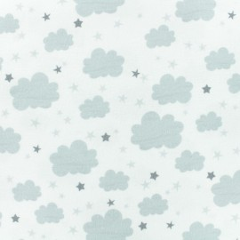 Flannel Fabric - White Cloud x 10cm