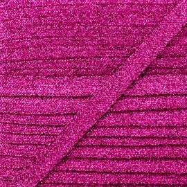 Ruban Lurex Réflexion 8 mm - Fuchsia x 1m