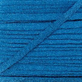 8 mm Lurex Braided Ribbon - Blue Réflexion x 1m
