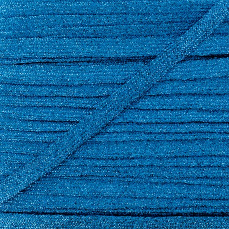 8 mm Lurex Braided Ribbon - Blue Réflexion x 1m
