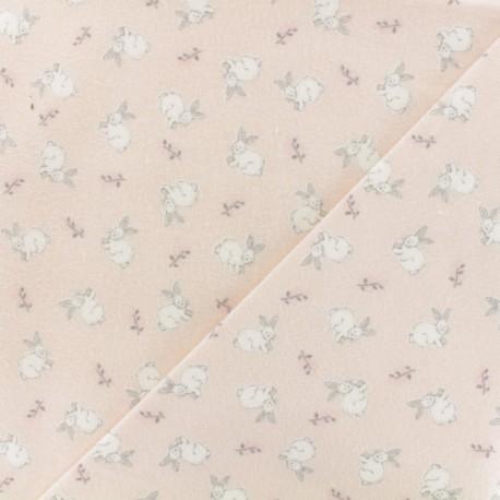 Tissu Flanelle Nuage - blanc x 10cm