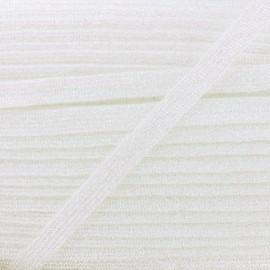 Ruban Lurex Réflexion 8 mm - Blanc x 1m