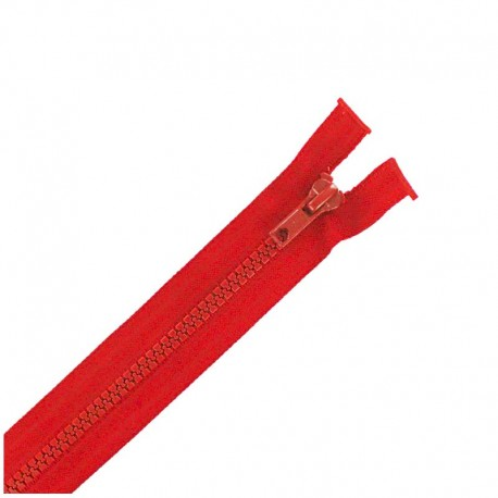 Moulded plastic open end zip eclair® - red