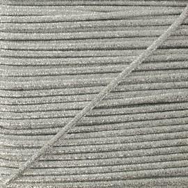 3 mm Lurex Cord - Silver Réflexion x 1m