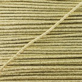 3 mm Lurex Cord - Gold Réflexion x 1m