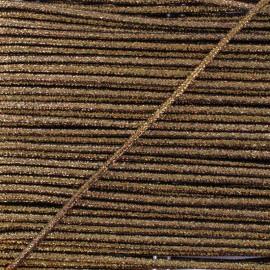 3 mm Lurex Cord - Bronze Réflexion x 1m