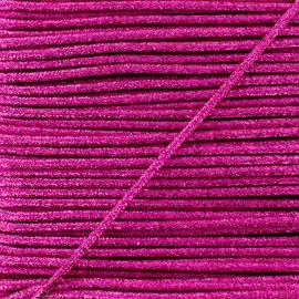3 mm Lurex Cord - Fuchsia Réflexion x 1m