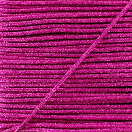 Cordon Lurex Réflexion 8 mm - Fuchsia x 1m