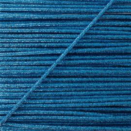 3 mm Lurex Cord - Blue Réflexion x 1m