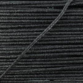 3 mm Lurex Cord - Black Réflexion x 1m
