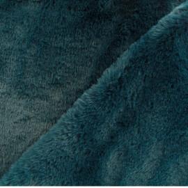 Tissu fourrure Malmo - vert paon x 10cm