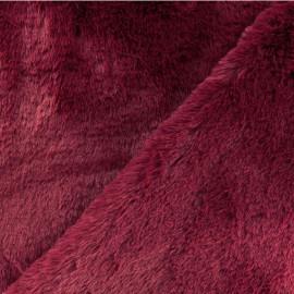 Tissu fourrure Malmo - grenat x 10cm