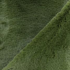 Fur fabric - khaki Green Malmo x 10 cm