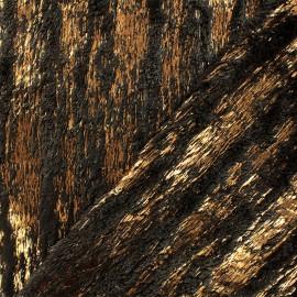Tissu fourrure Rita - marron x 10cm