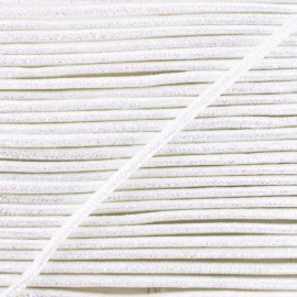 3 mm Lurex Cord - White Réflexion x 1m