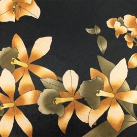 Tissu velours ras jersey Viviane - noir x10cm
