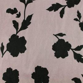 Short jersey velvet fabric - Grey Ombeline x10cm