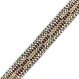 40 mm Polyester Strap - Burgundy Okaino