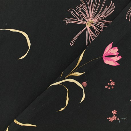 Tissu crêpe Anastasie - Noir