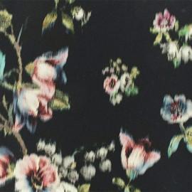 Tissu crêpe Javotte - Noir x 50cm
