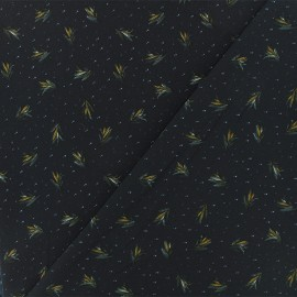Tissu crêpe Bethany - bleu marine x 50cm