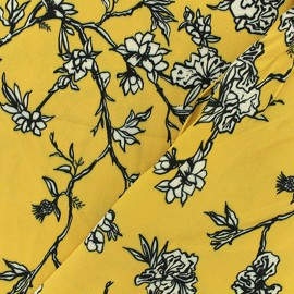 Crêpe Fabric - Yellow Bernice x 50cm