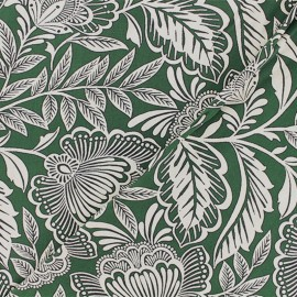 Tissu Viscose Sigirya - vert x 10cm