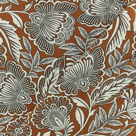 Viscose Fabric - Brown Sigirya x 10cm