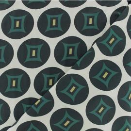 Tissu Viscose graphique Tangalle - bleu x 10cm