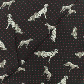 Tissu Viscose Pongo - noir x 10cm