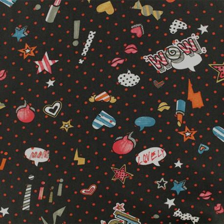 Viscose Fabric - Black Nolita x 10cm