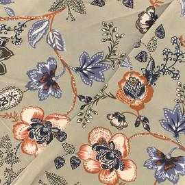 Tissu Viscose graphique Matosinhos - vert argile  x 10cm