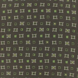 ♥ Coupon 150 cm X 140 cm ♥ Graphic Viscose Fabric - Chocolate Hanovre